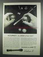 1962 Bausch & Lomb Balvar 8 Scope Ad - Accuracy