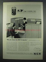 1962 NCR 315 Computer Ad - S and W Fine Foods