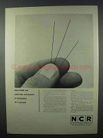 1962 NCR Thin Film Rod Memory Ad - Switches Computers