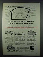 1962 Saab 96 Car Ad - A Critical Look at Comfort