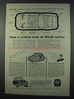 1962 Saab 96 Car Ad - Take a Critical Look at Safety