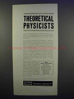 1962 United Aircraft Ad - Theoretical Physicists