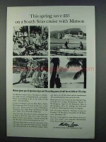 1962 Matson Lines Cruise Ad - South Seas