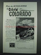 1962 Burlington Route Railroad Ad - Colorful Colorado