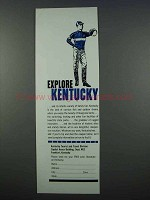 1962 Kentucky Tourism Ad - Explore Kentucky
