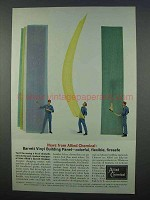 1962 Allied Chemical Ad - Barrett Vinyl Building Panel