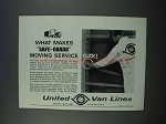 1962 United Van Lines Ad - Safe-Guard Moving Service