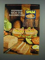 1962 Hormel SPAM Ad - Happiest Meat for Sandwiches