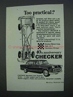 1962 Checker Car Ad - Too Practical?