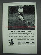 1962 Gravely Tractors Ad - This is How a Gravely Plows