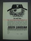 1962 South Carolina Tourism Ad - Yo-ho-ho!