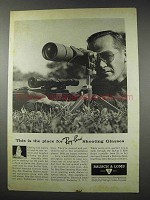 1961 Ray-Ban Shooting Glasses Ad - This is the Place For