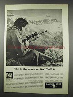 1961 Bausch & Lomb Balvar 8 Scope Ad - Place For