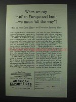 1961 American Export Lines Cruise Ad - All The Way
