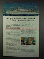 1961 P&O-Orient Lines Cruise Ad - SS Canberra