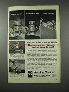 1961 Black & Decker Router Ad - Versatile and Easy