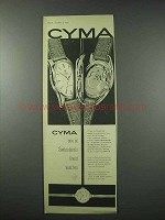 1961 Cyma Autorotor Watch Ad - Switzerland's Finest