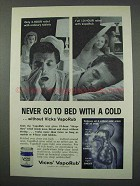 1961 Vicks VapoRub Ad - Never Go To Bed With a Cold