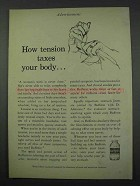 1961 Bufferin Ad - How Tension Taxes Your Body