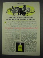 1961 Murine Eye Drops Ad - Switch of a Horse Tail