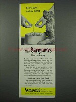 1961 Sergeant's Worm Away Ad - Start Puppy Right