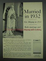 1961 Maytag Washer Ad - Married in 1932