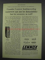 1961 Lennox Heating-Cooling Ad - Dependability