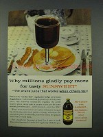 1961 Sunsweet Prune Juice Ad - Gladly Pay More For
