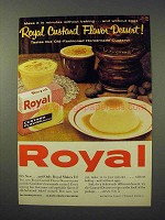 1961 Royal Custard Flavor Dessert Ad!