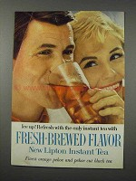 1961 Lipton Instant Tea Ad - Fresh-Brewed Flavor