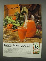 1961 V-8 Vegetable Juice Ad - Taste How Good!