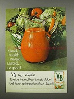 1961 V-8 Vegetable Juice Ad - Good Health So Good