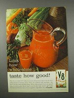 1961 V-8 Vegetable Juice Ad - Look How Wholesome