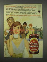 1961 Chase & Sanborn Coffee Ad - So Delicious!