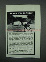 1961 Airstream Land Yacht Trailer Ad - Fun to Travel