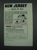 1961 New Jersey Tourism Ad - Land of Fun