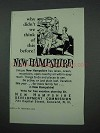 1961 New Hampshire Tourism Ad - Think of This