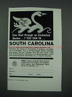 1961 South Carolina Tourism Ad - An Enchanted Garden