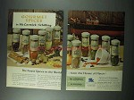 1961 McCormick Schilling Spices Ad - Gourmet