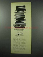1960 Imperial Typewriter Ad - System Retarded?