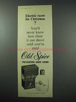 1960 Old Spice Pre-Electric Shave Lotion Ad