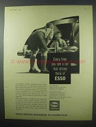 1960 Esso Chemicals Ad - See a Car That Shines