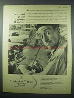 1960 Albright & Wilson Chemicals Ad - Rain is Wet