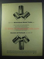 1960 Accles & Pollock Stainless Steel Tube Ad