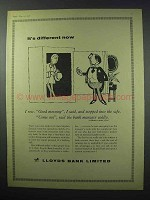 1960 Lloyds Bank Limited Ad - It's Different Now