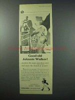 1960 Johnnie Walker Scotch Ad - Good Old Johnnie