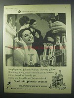 1960 Johnnie Walker Scotch Ad - Lamplight
