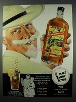 1960 Myer's Planters' Punch Rum Ad - Make Mine Myers