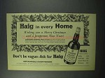 1960 Haig Gold Label Scotch Ad - In Every Home