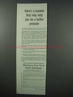 1960 Members New York Stock Exchange Ad - Help